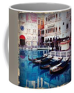 Coffee Mug featuring the photograph Venice Via Vegas by Glenn DiPaola