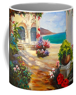 Venice Villa Coffee Mug by Jenny Lee