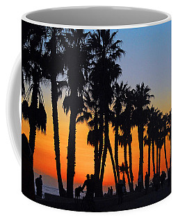 Ventura Boardwalk Silhouettes Coffee Mug by Lynn Bauer