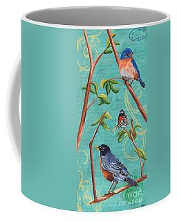 Verdigris Songbirds 1 Coffee Mug