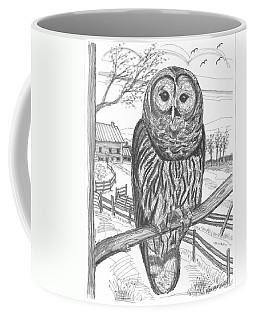 Vermont Barred Owl Coffee Mug