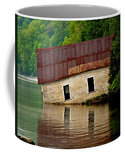 Coffee Mug featuring the photograph Vermont Boathouse by John Haldane