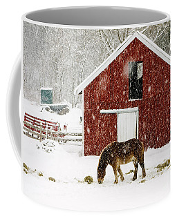 Vermont Christmas Eve Snowstorm Coffee Mug