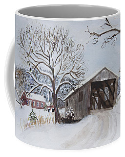 Vermont Covered Bridge In Winter Coffee Mug