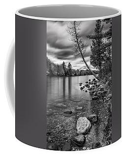 Vermont Groton Ricker Pond Autumn Landscape Black And White Coffee Mug