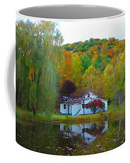 Vermont House In Full Autumn Coffee Mug