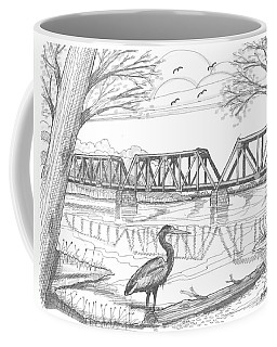 Vermont Railroad On Connecticut River Coffee Mug