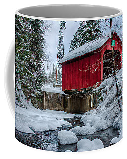Coffee Mug featuring the photograph Vermonts Moseley Covered Bridge by Jeff Folger