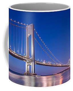 Verrazano Bridge Before Sunrise  Coffee Mug by Michael Ver Sprill