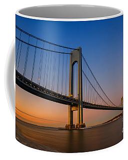 Verrazano Bridge Sunrise  Coffee Mug by Michael Ver Sprill