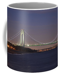 Verrazano Narrows Bridge At Night Coffee Mug
