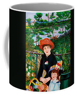 Version Of Renoir's Two Sisters On The Terrace Coffee Mug