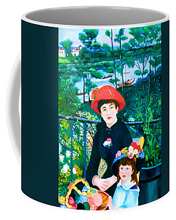 Version Of Renoir's Two Sisters On The Terrace Coffee Mug by Lorna Maza