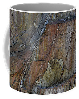 Coffee Mug featuring the photograph Vertical Strata by Nadalyn Larsen
