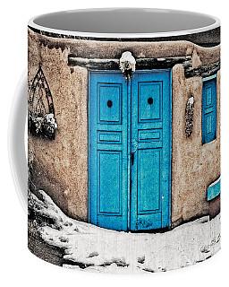 Very Blue Door Coffee Mug