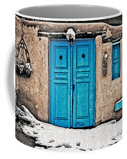Very Blue Door Coffee Mug
