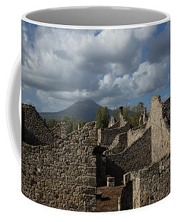 Vesuvius Towering Over The Pompeii Ruins Coffee Mug