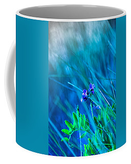 Coffee Mug featuring the photograph Vetch In Blue by Adria Trail