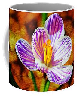 Coffee Mug featuring the photograph Vibrant Spring Crocus by Judy Palkimas