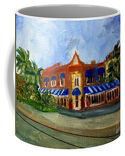 Vic And Angelos In Downtown Delray Beach Coffee Mug