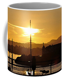 Coffee Mug featuring the digital art Victoria Harbor Sunset 1 by Kirt Tisdale