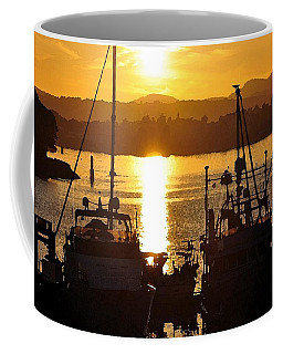 Coffee Mug featuring the digital art Victoria Harbor Sunset 2 by Kirt Tisdale