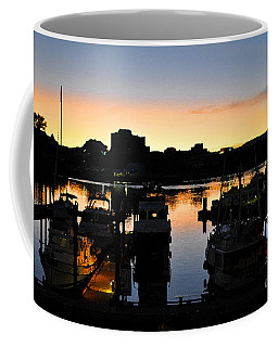 Coffee Mug featuring the digital art Victoria Harbor Sunset 3 by Kirt Tisdale