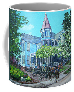 Coffee Mug featuring the painting Victorian Greenville by Bryan Bustard