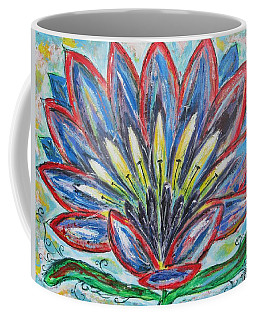 Coffee Mug featuring the painting Hawaiian Blossom by Diane Pape