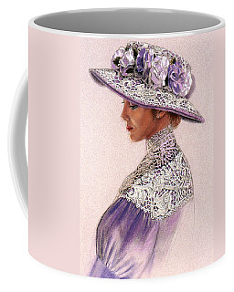 Victorian Lady In Lavender Lace Coffee Mug