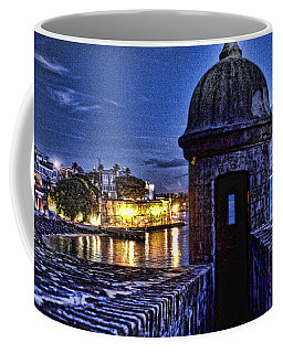 Coffee Mug featuring the photograph Viejo San Juan En La Noche by Daniel Sheldon