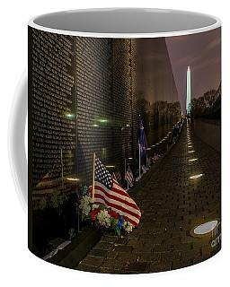 Vietnam Veterans Memorial At Night Coffee Mug