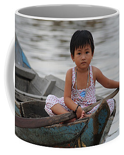 Vietnamese Girl On Lake Tonle Sap Coffee Mug