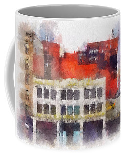 Coffee Mug featuring the digital art View From A New York Window by Mark Taylor