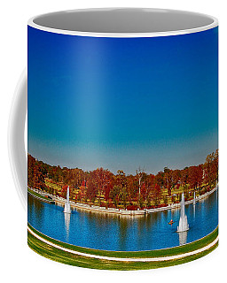 Coffee Mug featuring the photograph View From Art Hill Forest Park Missouri by Peggy Franz