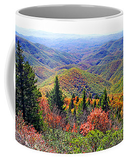 View From Devil's Courthouse Rock Coffee Mug