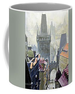 View From The Mostecka Street In The Direction Of Charles Bridge Coffee Mug