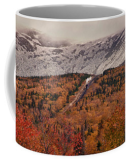 View Of Autumn Foliage From The Mount Washington Cog Railway Train Coffee Mug
