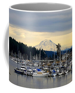 View Of Mt. Rainier From Gig Harbor Wa Coffee Mug