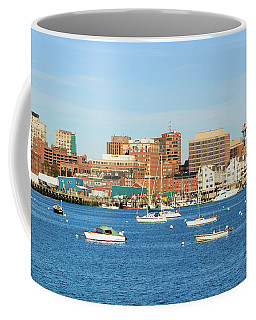 View Of Portland Harbor Boats Coffee Mug