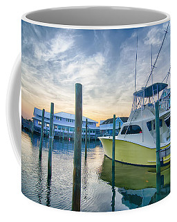 View Of Sportfishing Boats At Marina Coffee Mug