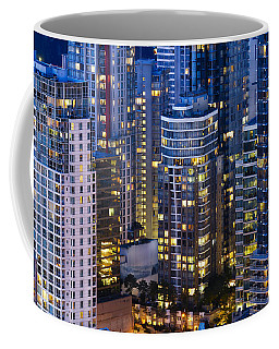 Coffee Mug featuring the photograph View Towards Coal Harbor Vancouver Mdxxvii  by Amyn Nasser