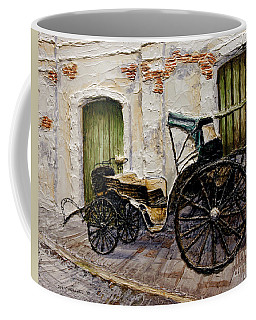 Coffee Mug featuring the painting Vigan Carriage 2 by Joey Agbayani