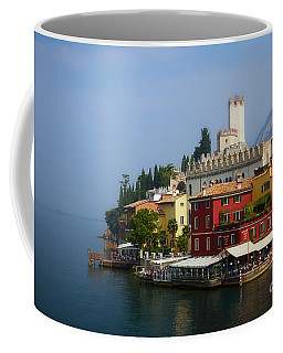 Coffee Mug featuring the photograph Village Near The Water With Alps In The Background  by Nick  Biemans