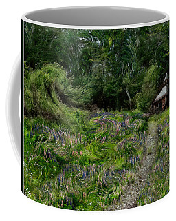 Coffee Mug featuring the photograph A Lupine Tale  Vincents View by Wayne King