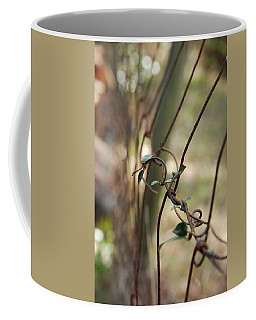 Vine On Rusted Fence Coffee Mug