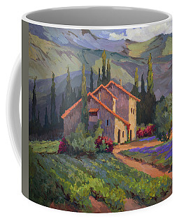 Vineyard And Lavender In Provence Coffee Mug