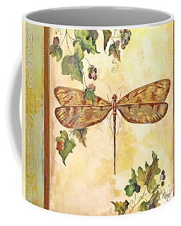 Vineyard Dragonfly Coffee Mug by Jean Plout