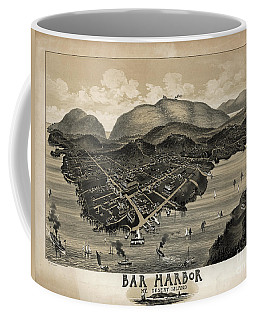 Vintage Bar Harbor Map Coffee Mug