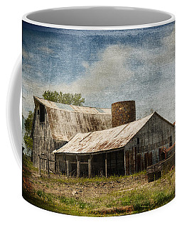 Barn -vintage Barn With Brick Silo - Luther Fine Art Coffee Mug